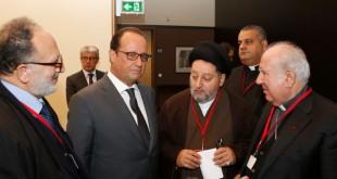 سماحة السيد صالح الحكيم مع الرئيس الفرنسي هولاند
