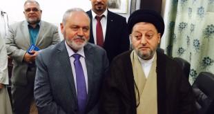 السفير الروماني في العراق وسماحة السيد صالح الحكيم